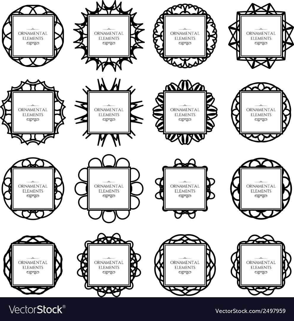 Ornamental frame set vector | Price: 1 Credit (USD $1)