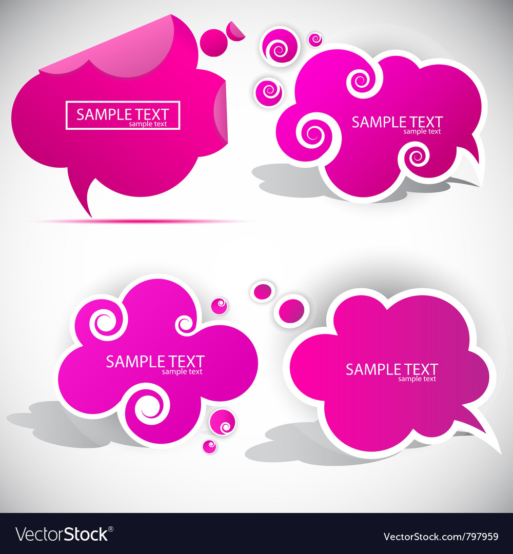 Paper cloud bubble for speech vector | Price: 1 Credit (USD $1)