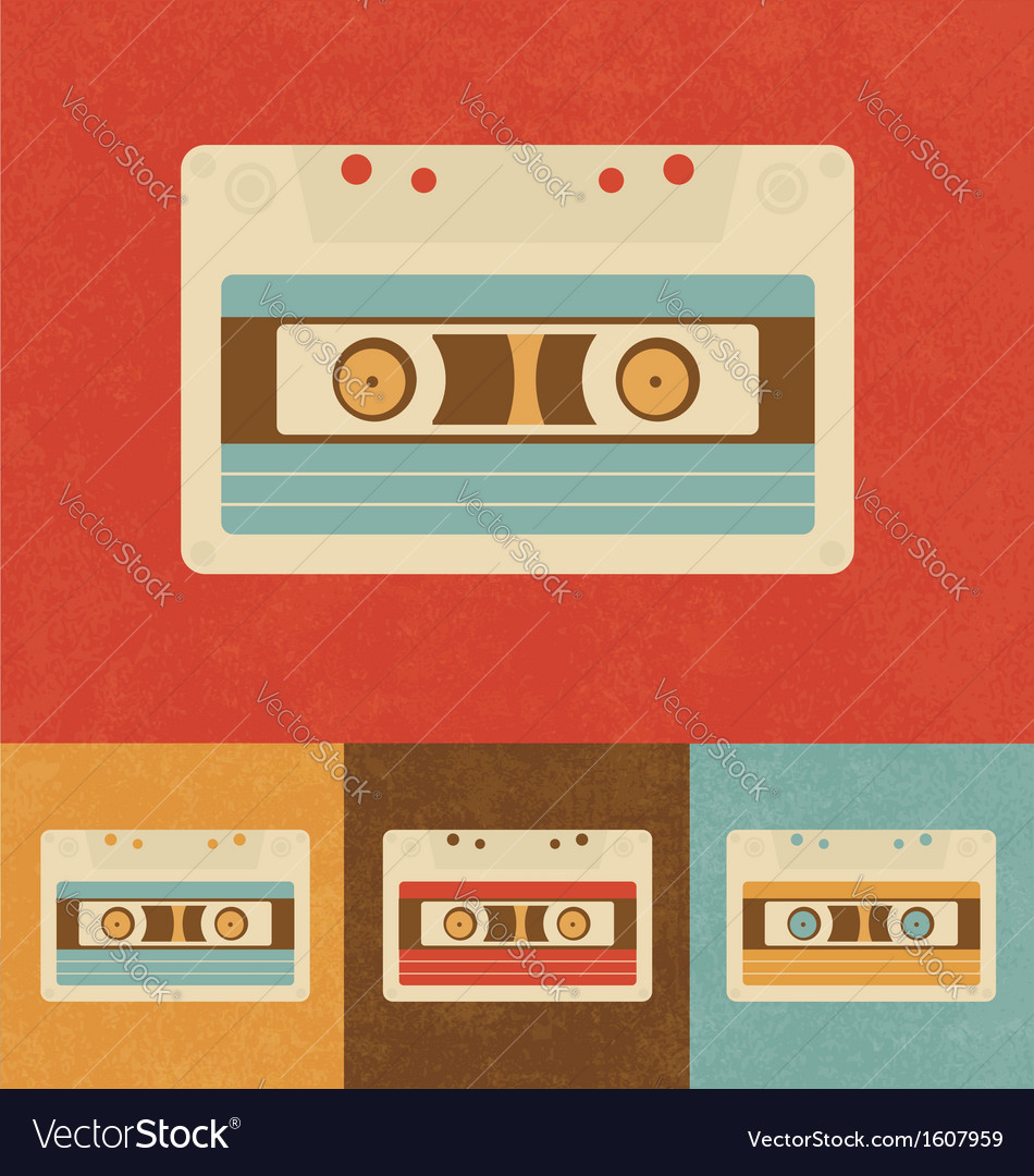 Retro cassette vector | Price: 1 Credit (USD $1)