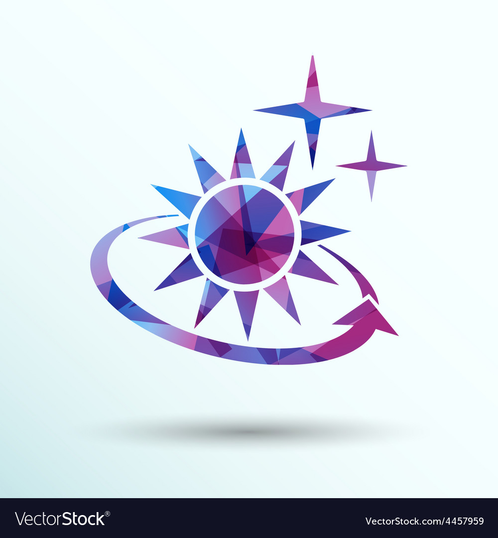 Sun icon sun icon outdoor sunlight shine vector | Price: 1 Credit (USD $1)