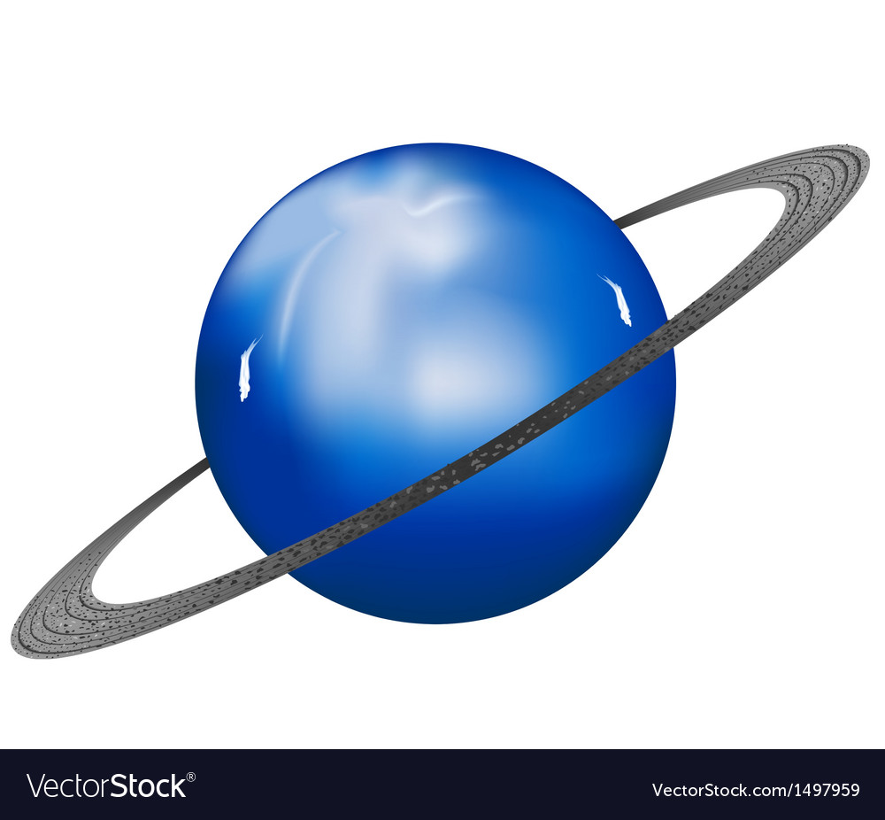 Uranus planet vector | Price: 1 Credit (USD $1)