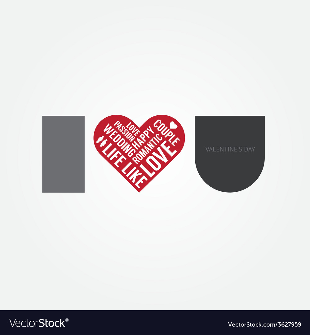 Valentines day love symbol modern design vector | Price: 1 Credit (USD $1)