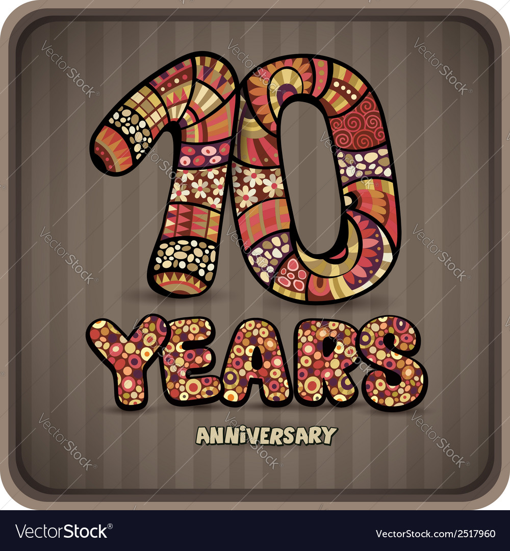 10 years anniversary vector | Price: 1 Credit (USD $1)