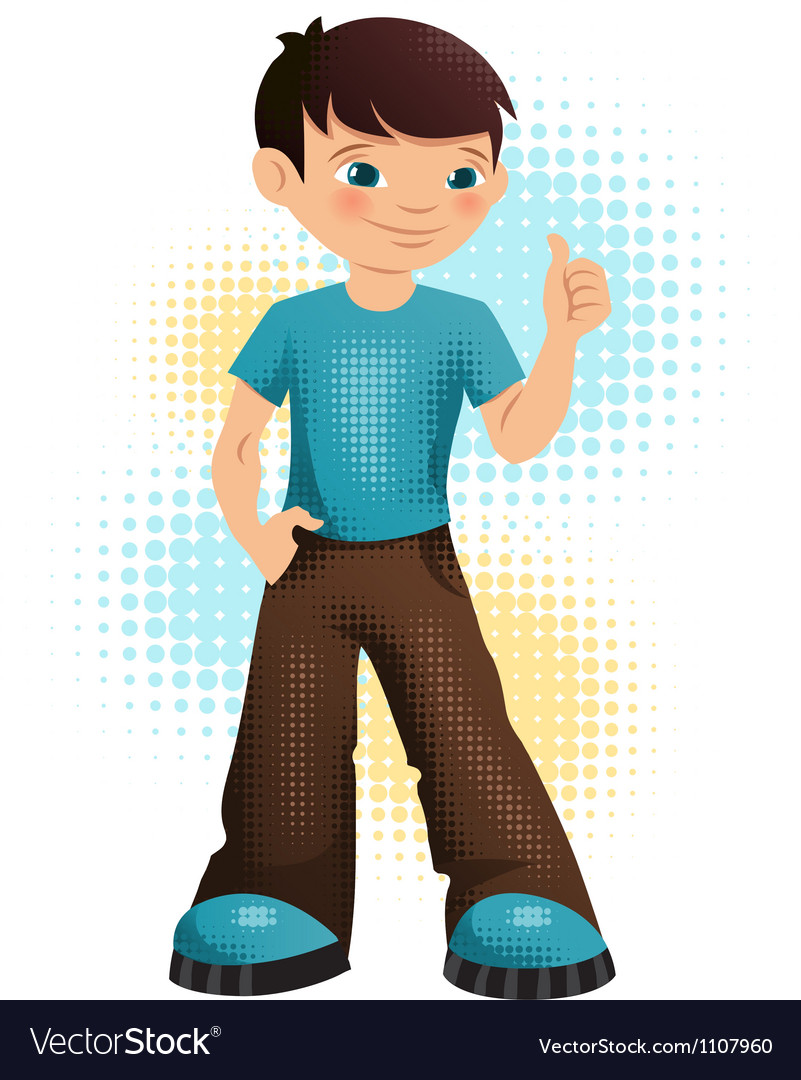 A happy young teen boy vector | Price: 1 Credit (USD $1)