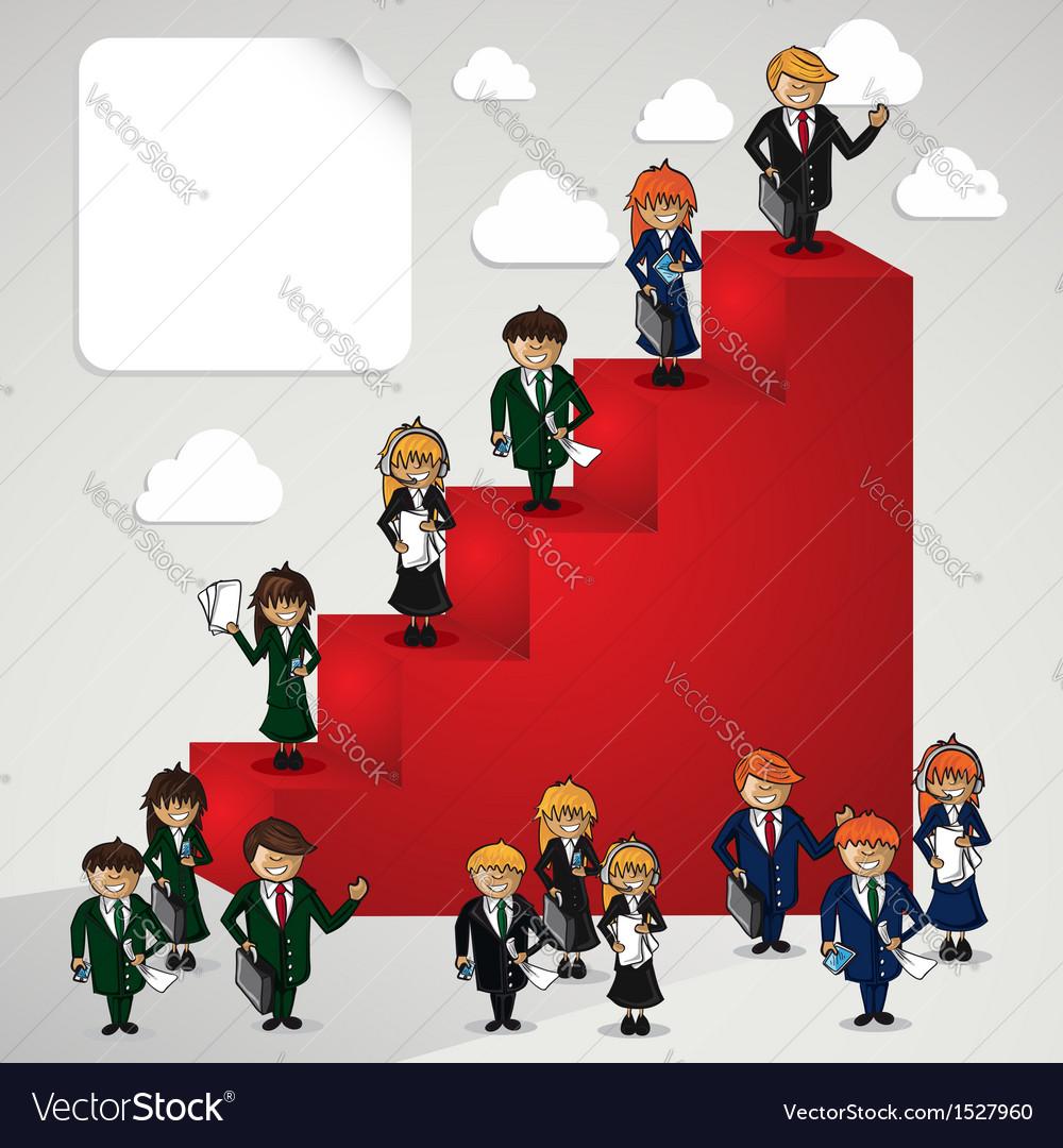 Business leadership cartoon people vector | Price: 1 Credit (USD $1)