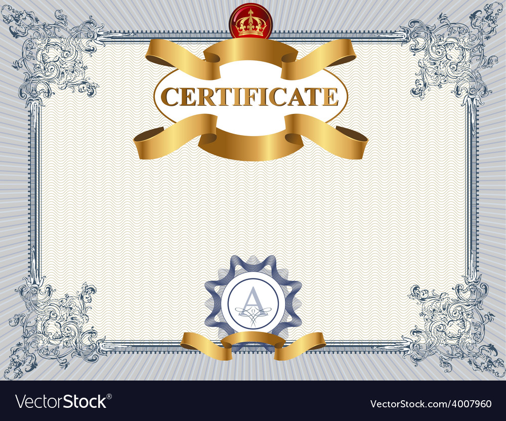 Certificate or coupon template vector | Price: 3 Credit (USD $3)