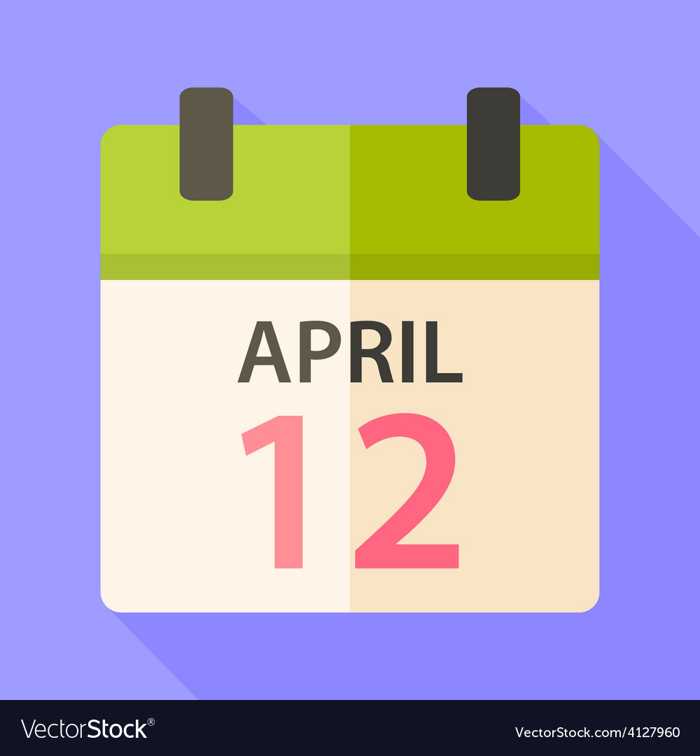Easter calendar with date 12 april vector | Price: 1 Credit (USD $1)