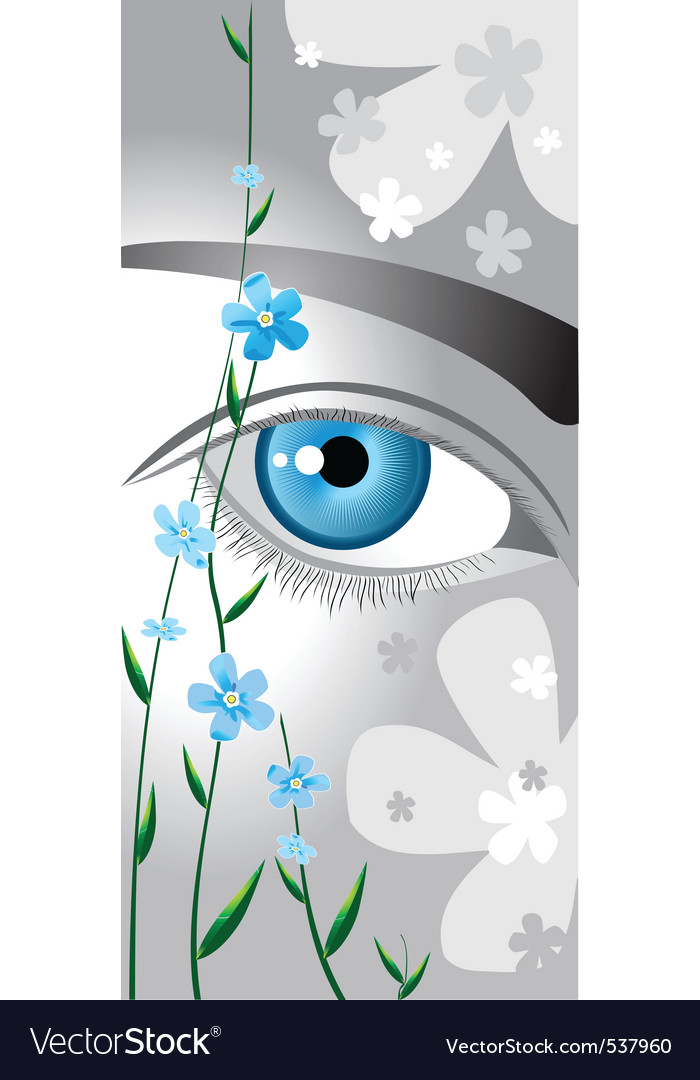 Flower eyes vector | Price: 3 Credit (USD $3)