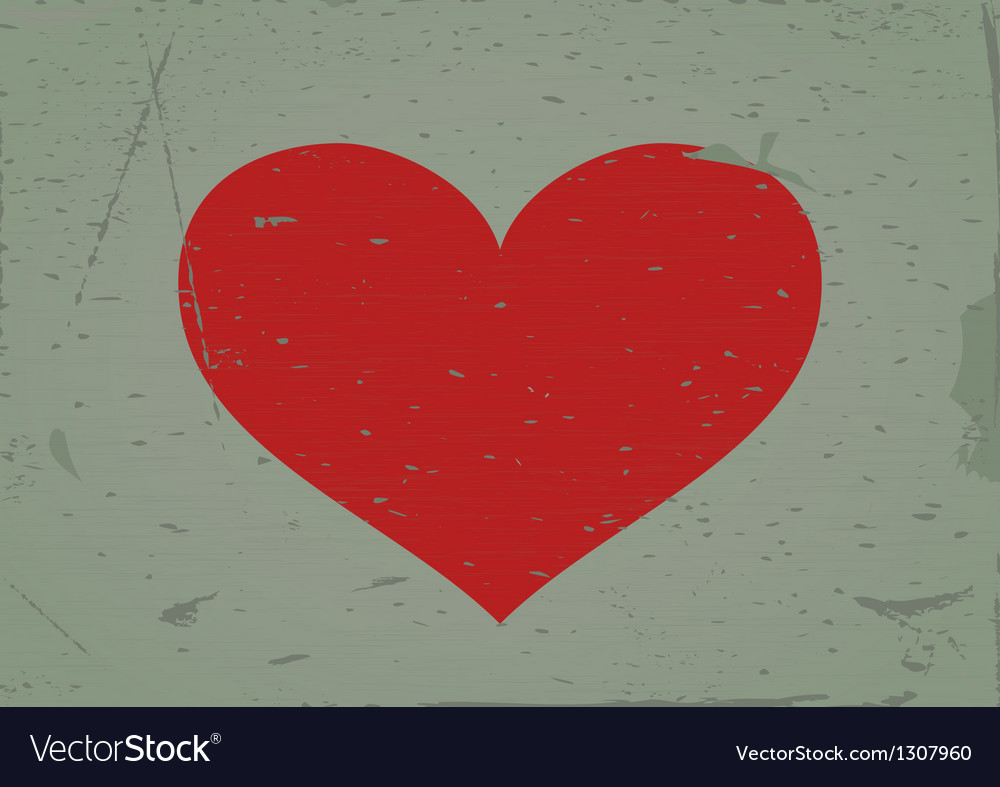 Heart sign grunge background vector | Price: 1 Credit (USD $1)