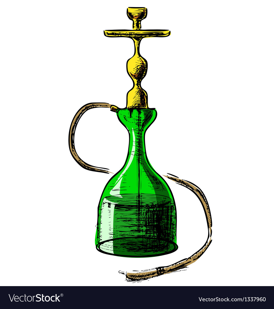 Hookah on white background vector | Price: 1 Credit (USD $1)