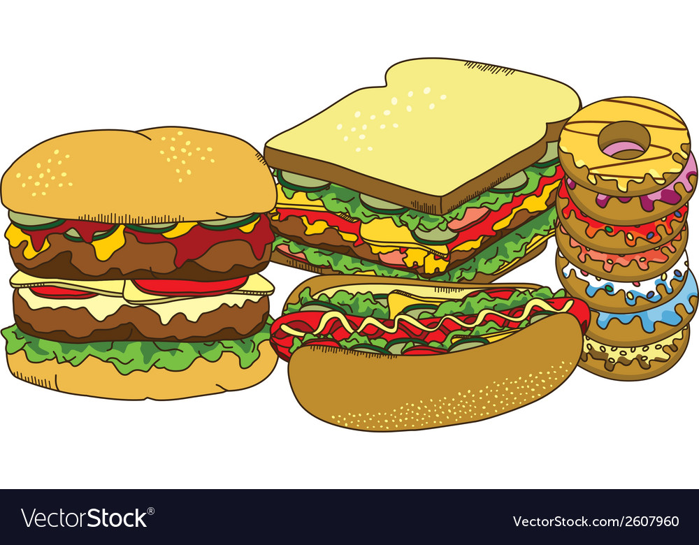 Junk food vector | Price: 1 Credit (USD $1)