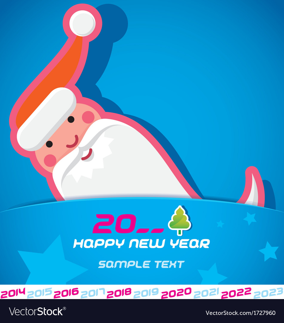 Merry christmas santa claus  new year card vector   Price: 1 Credit (USD $1)