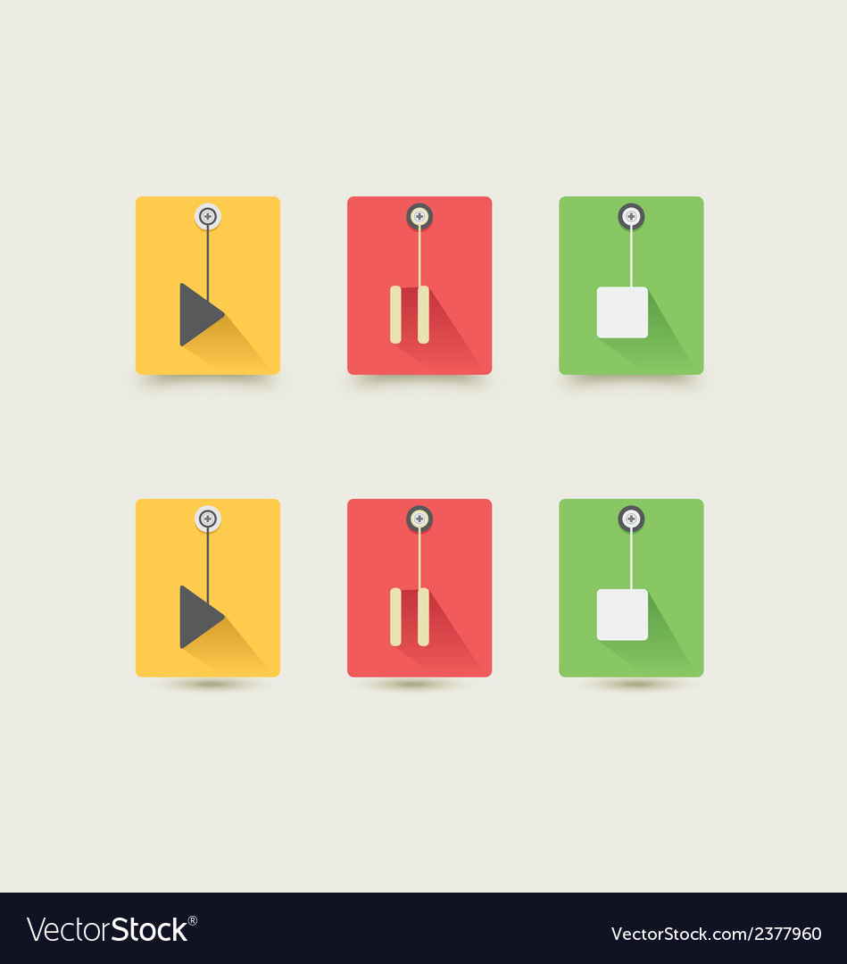 Music player control interfrace 5 vector | Price: 1 Credit (USD $1)
