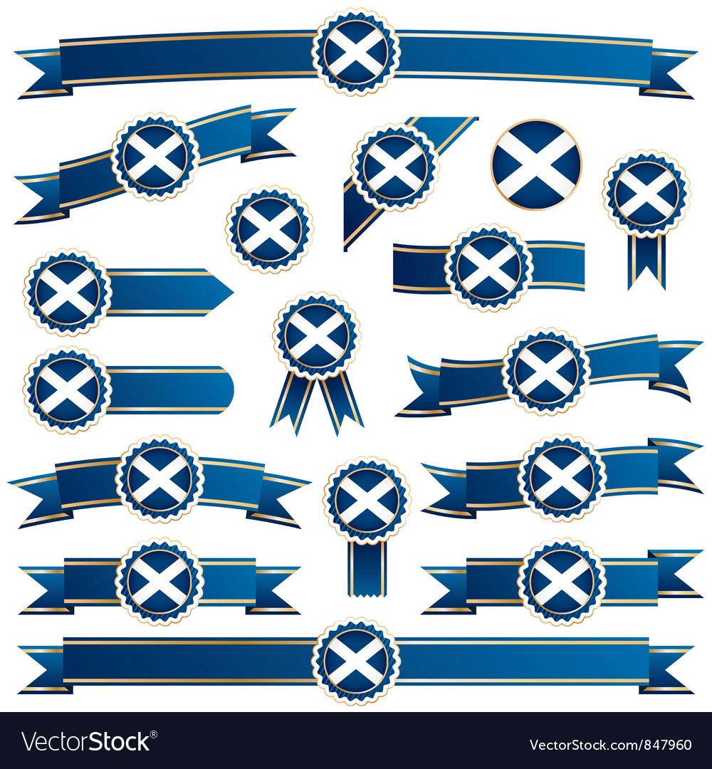 Scotland ribbons vector | Price: 3 Credit (USD $3)