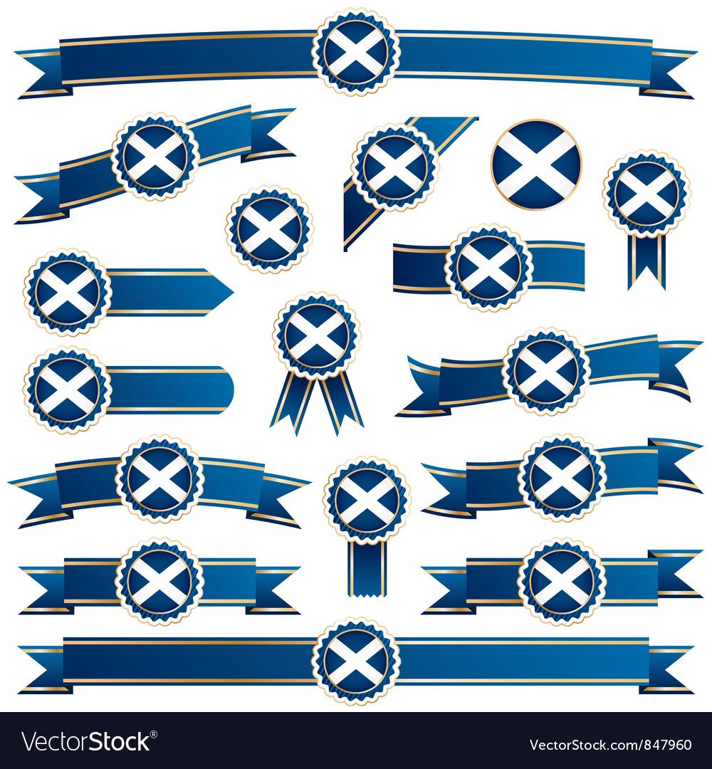 Scotland ribbons vector   Price: 3 Credit (USD $3)