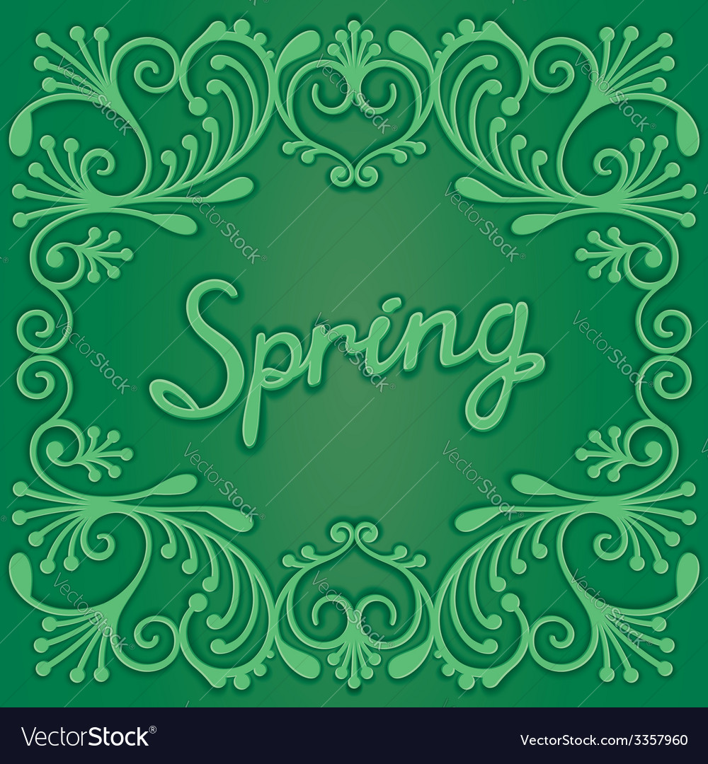 Spring card with pattern vector | Price: 1 Credit (USD $1)