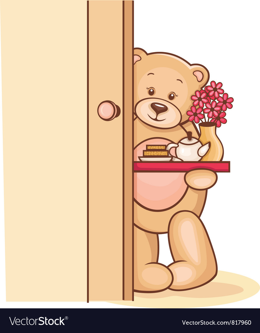Teddy breakfast tray vector | Price: 1 Credit (USD $1)