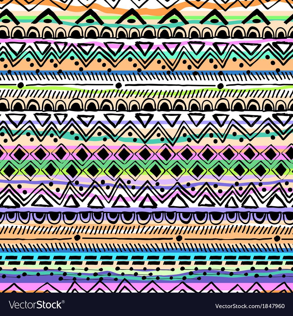 Tribal stripe seamless print vector | Price: 1 Credit (USD $1)