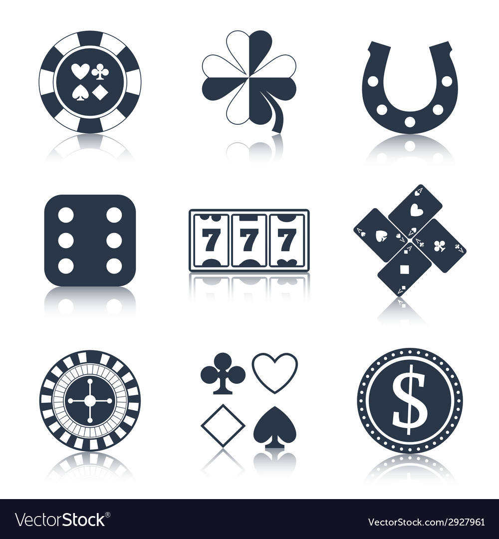 Casino black design elements vector | Price: 1 Credit (USD $1)
