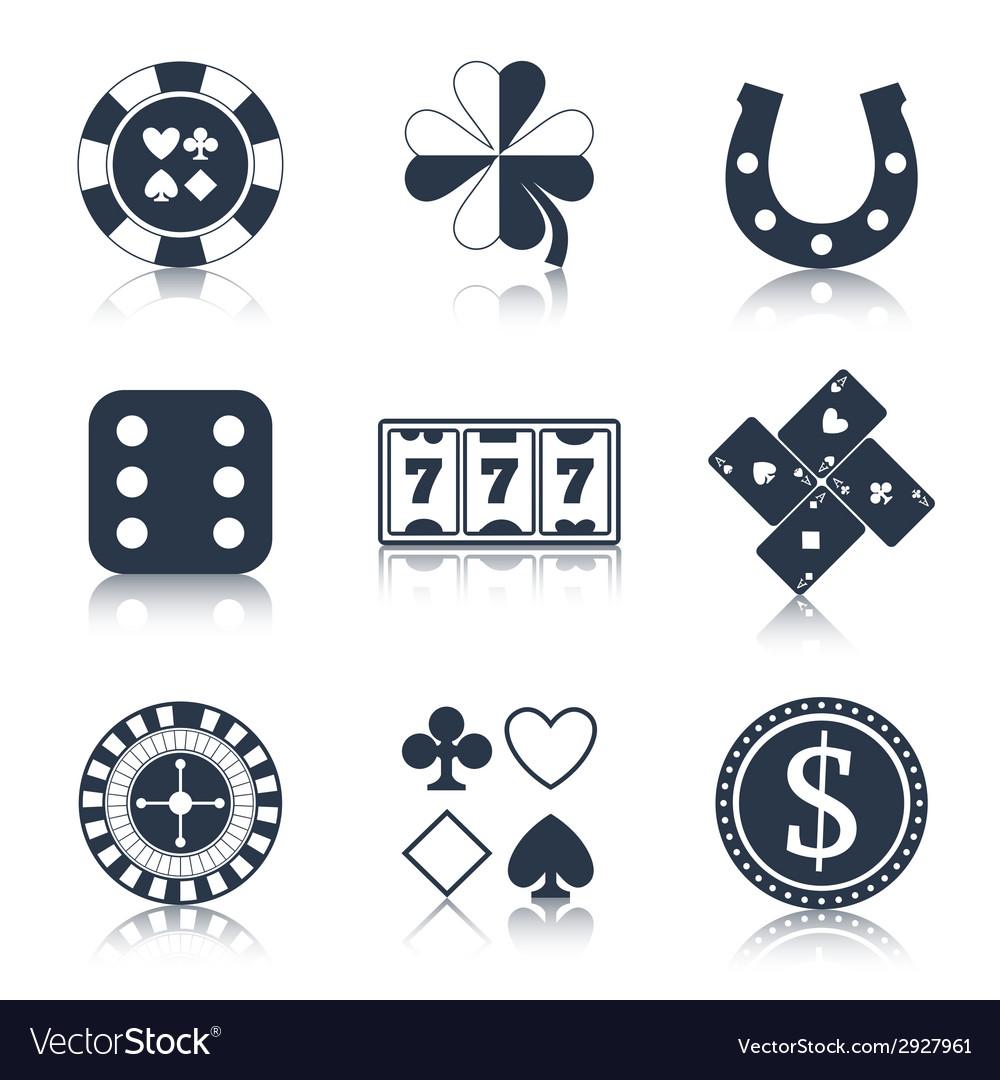 Casino black design elements vector | Price: 1 Credit (USD $1)