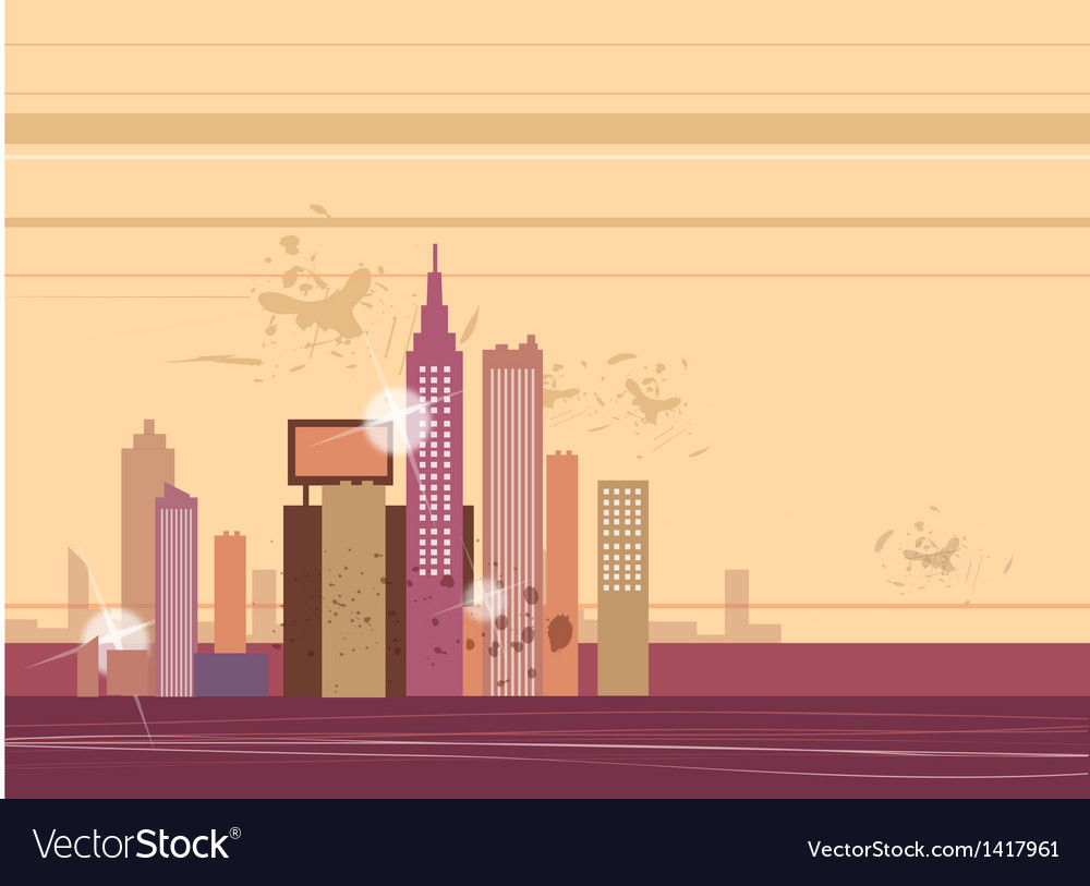 Cityscape view vector | Price: 1 Credit (USD $1)
