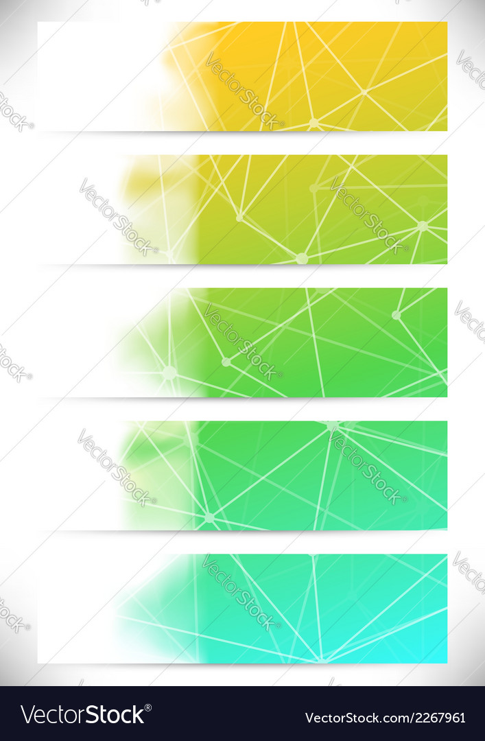 Connection structure cards collection lines vector | Price: 1 Credit (USD $1)