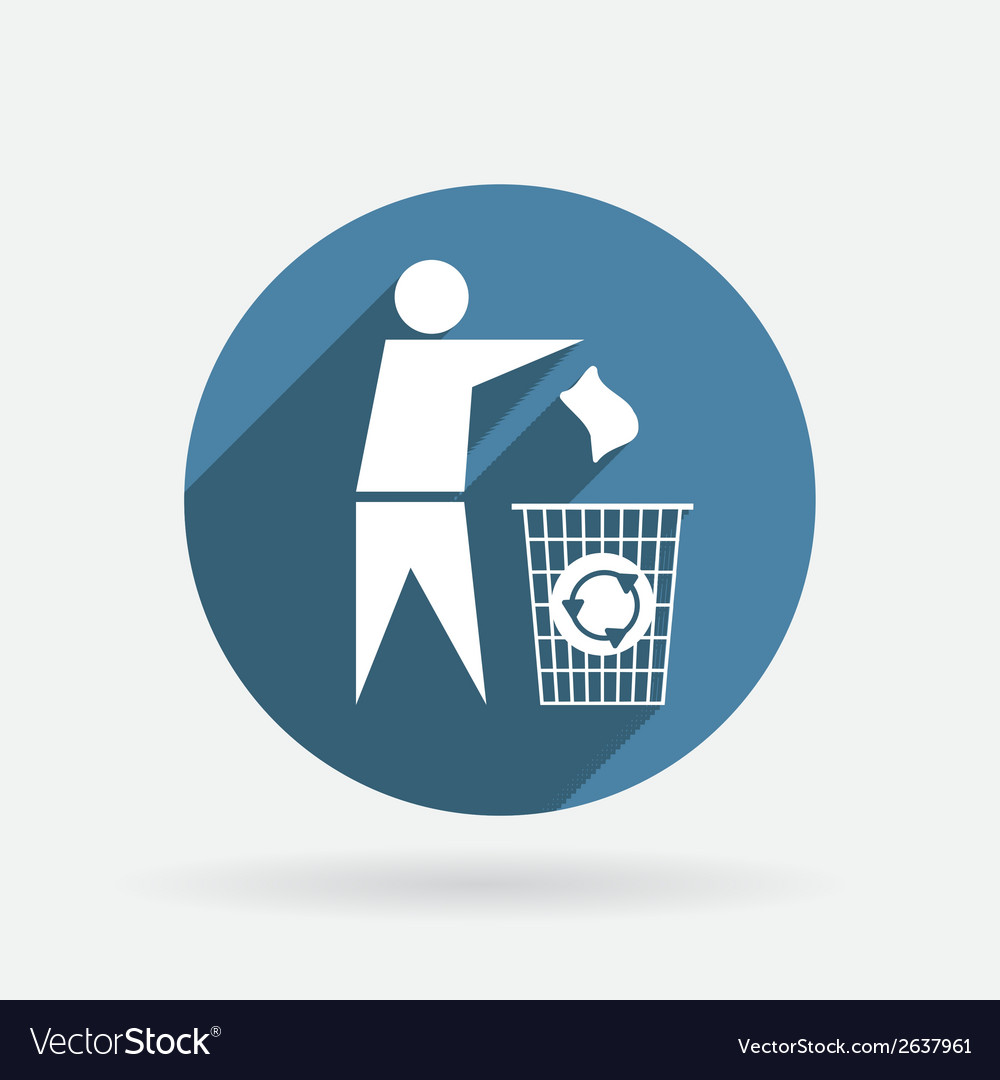 Do not litter circle blue icon with shadow vector | Price: 1 Credit (USD $1)