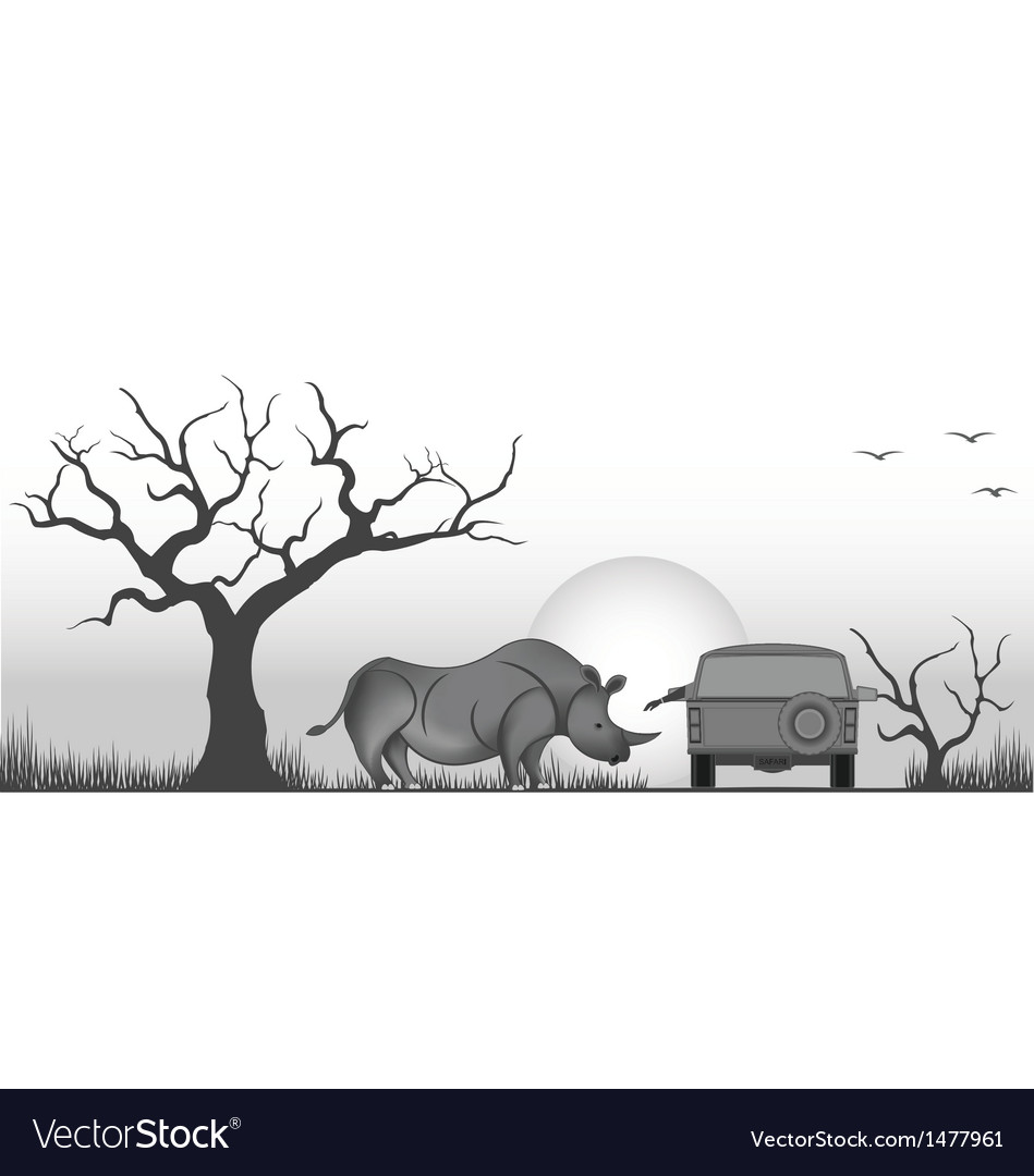 Friendly rhino vector | Price: 1 Credit (USD $1)