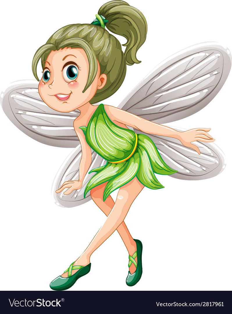 Green fairy vector | Price: 1 Credit (USD $1)