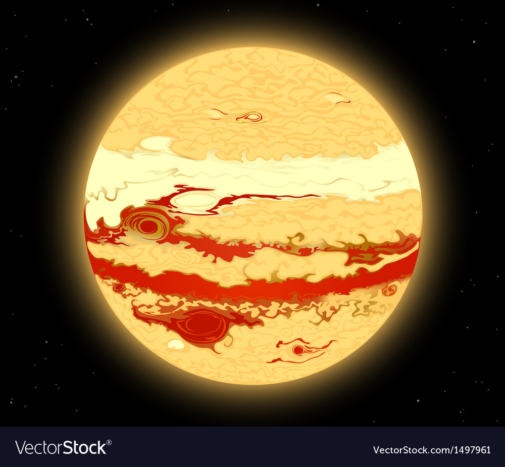 Jupiter planet vector | Price: 1 Credit (USD $1)