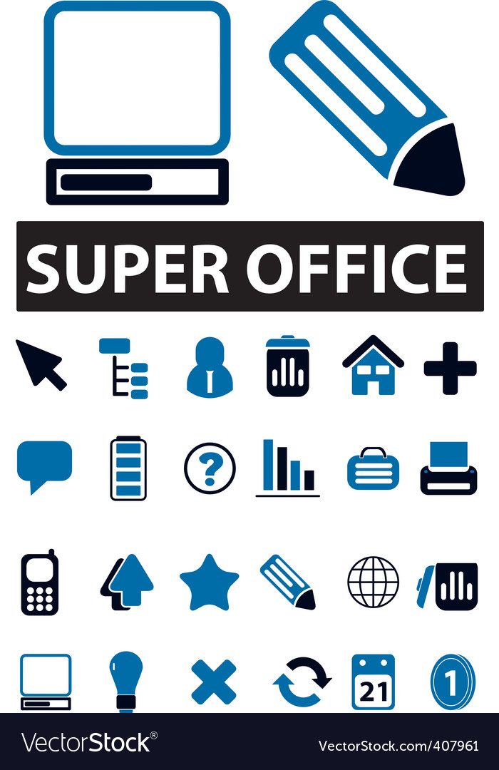 Office signs vector | Price: 1 Credit (USD $1)