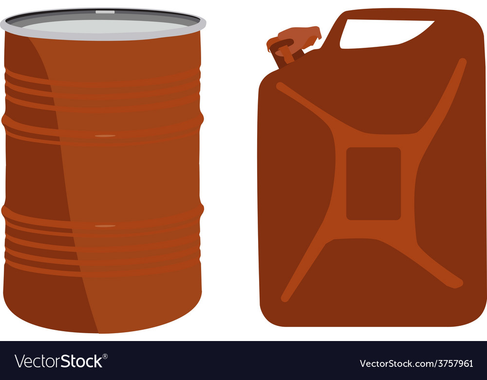 Orange barrel and canister vector | Price: 1 Credit (USD $1)