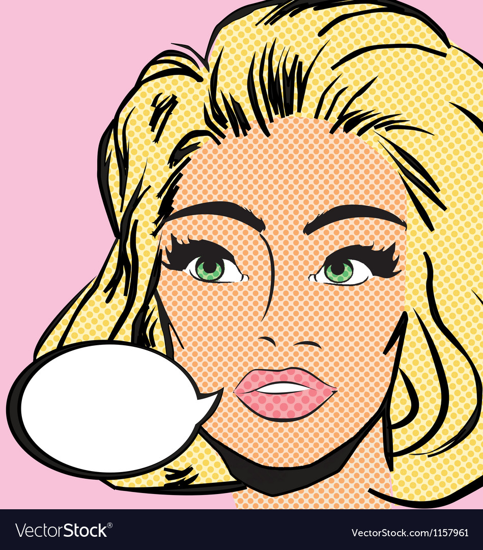 Pop art woman vector