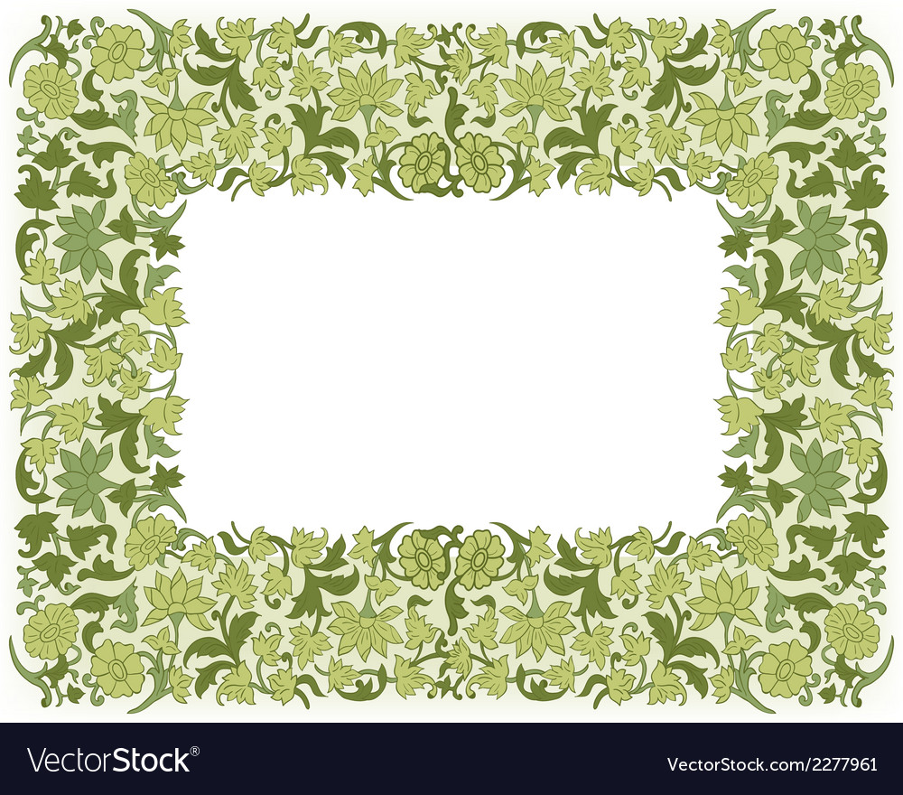 Save the date floral card border frame vector | Price: 1 Credit (USD $1)