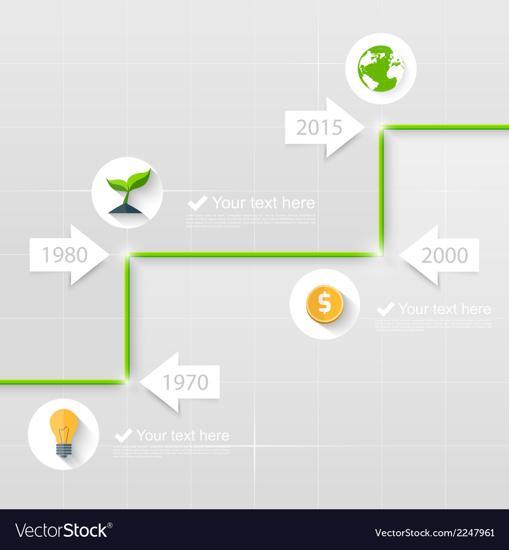 Timeline business concept vector | Price: 1 Credit (USD $1)