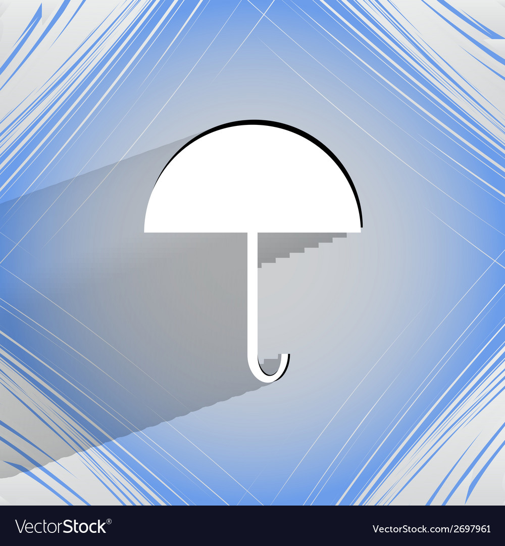 Umbrella flat modern web button on a flat vector   Price: 1 Credit (USD $1)