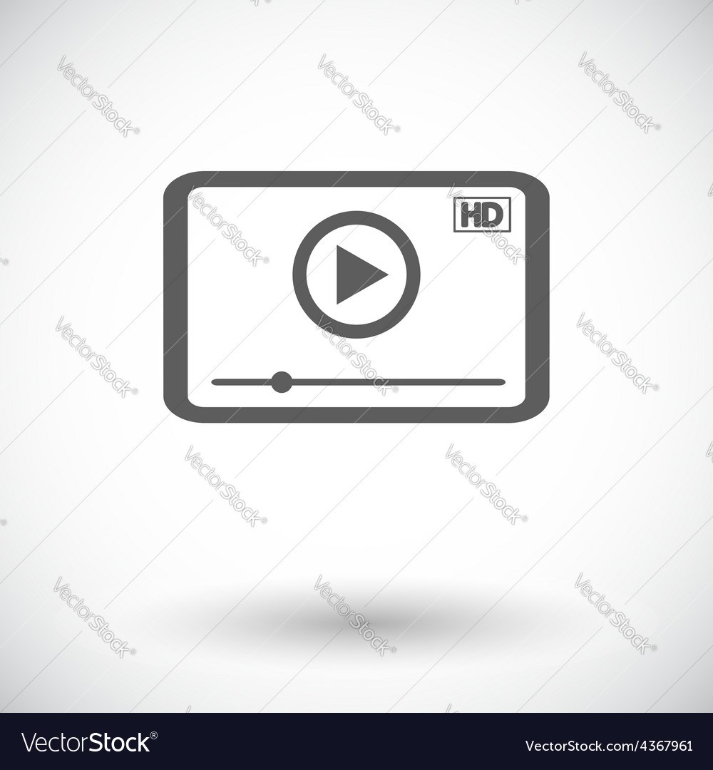 Video player icon vector | Price: 1 Credit (USD $1)