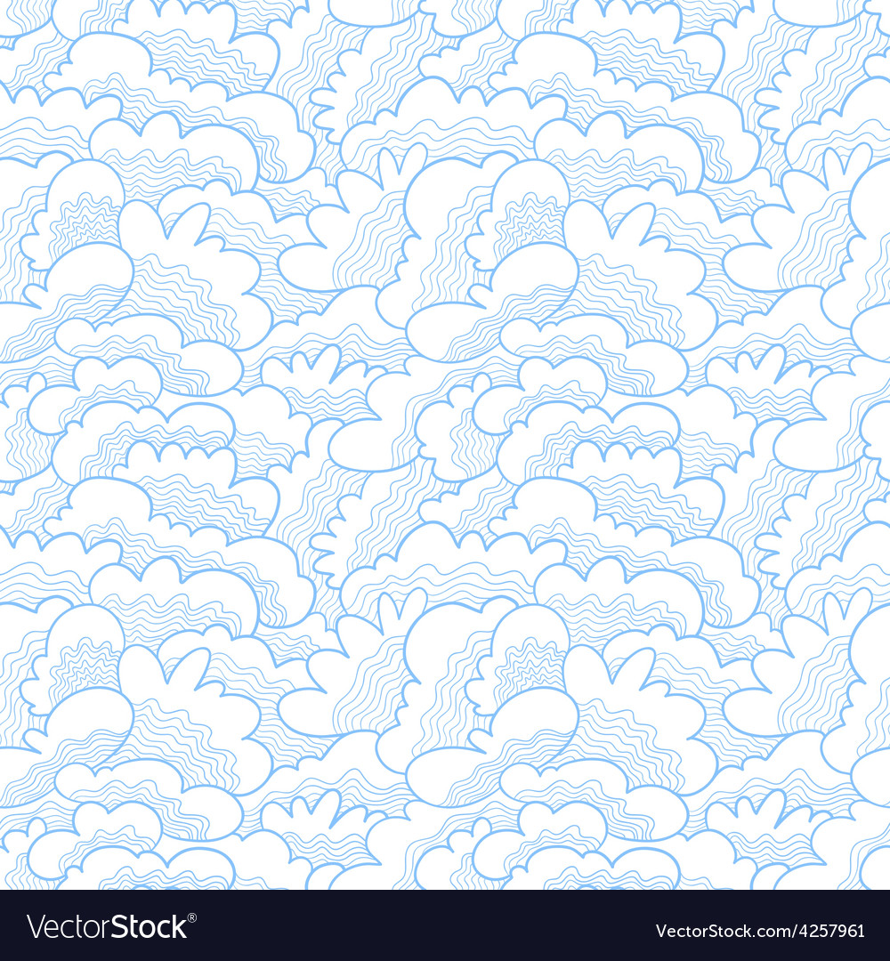 Waves seamless pattern vector | Price: 1 Credit (USD $1)