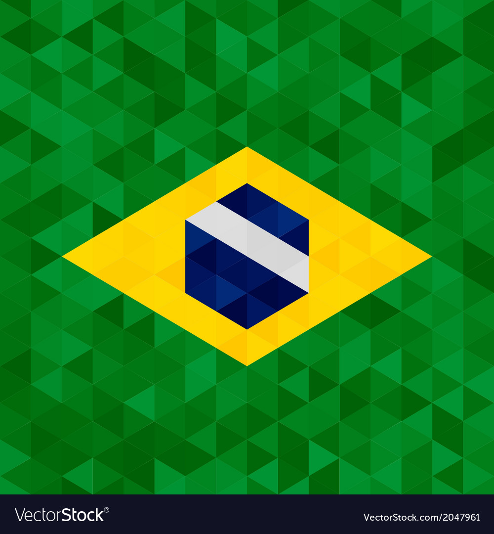 Waving fabric flag of brazil vector | Price: 1 Credit (USD $1)