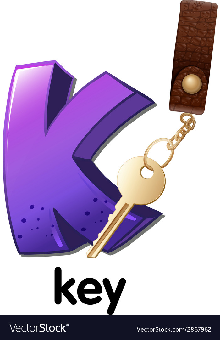A letter k for key vector | Price: 1 Credit (USD $1)