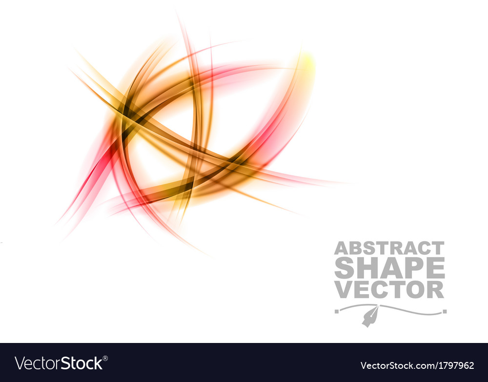 Abstract shapes on white only red vector | Price: 1 Credit (USD $1)