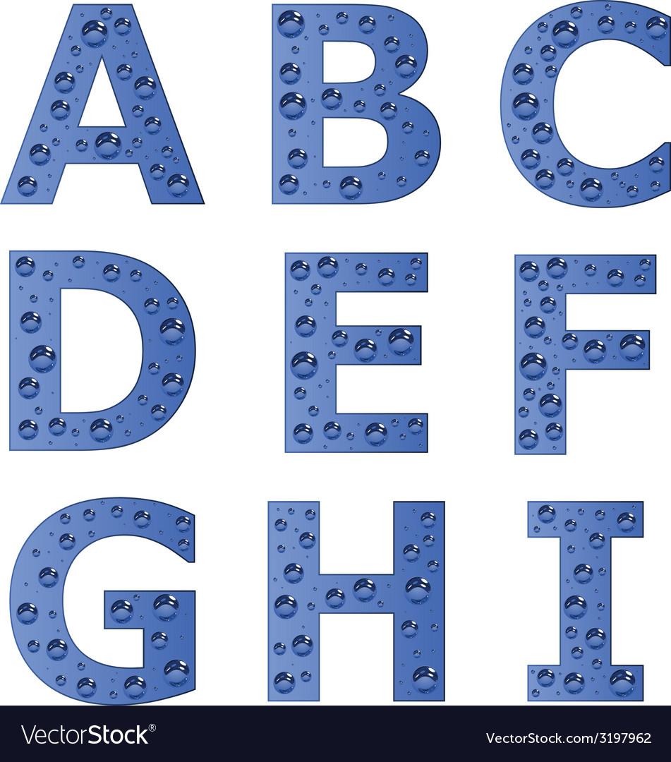Bubble alphabet - part 1 vector | Price: 1 Credit (USD $1)