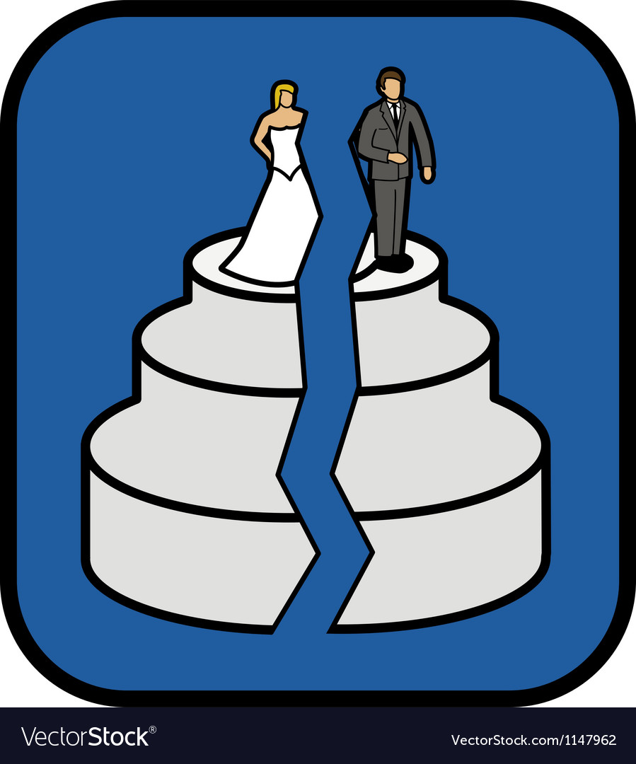 Divorce cake vector | Price: 1 Credit (USD $1)