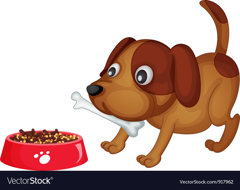 Doggy dinner vector | Price: 3 Credit (USD $3)