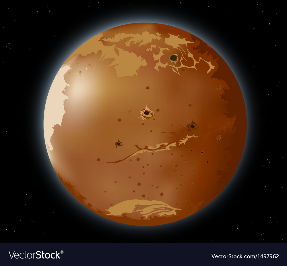 Mars planet vector | Price: 1 Credit (USD $1)
