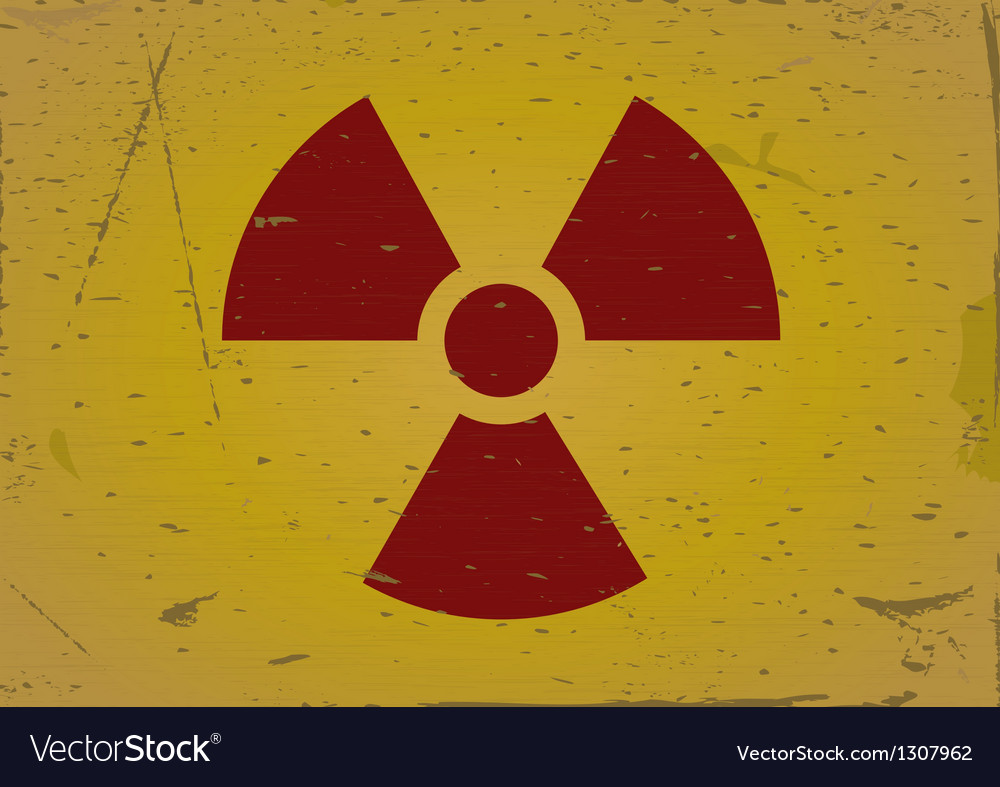 Radiation sign grunge background vector | Price: 1 Credit (USD $1)