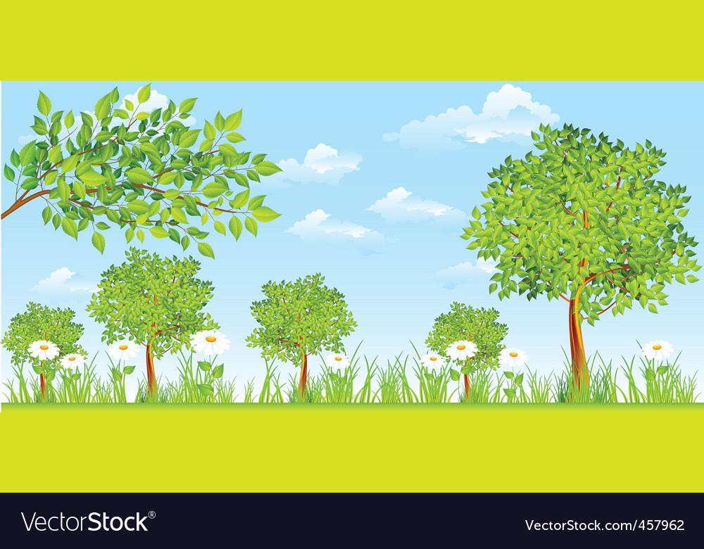 Rural landscape vector | Price: 1 Credit (USD $1)