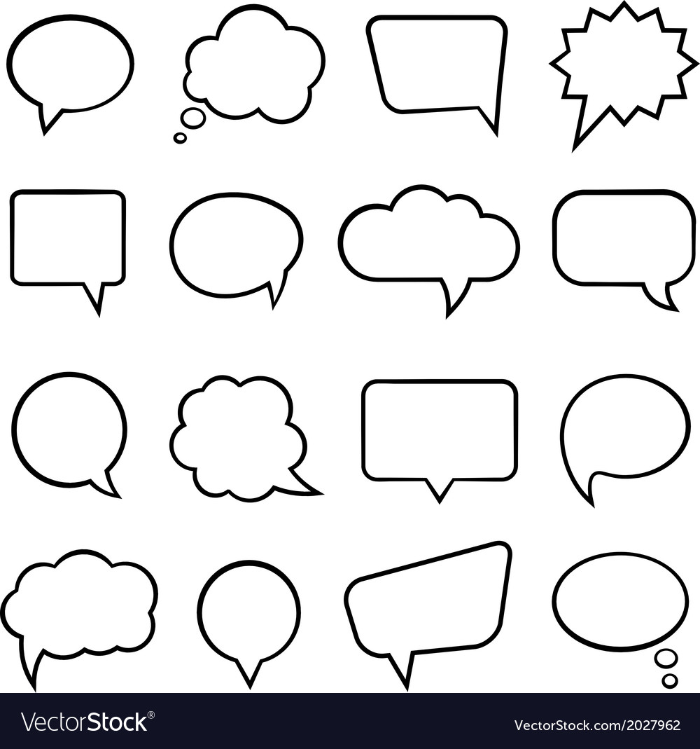 Speech bubbles for infographics vector | Price: 1 Credit (USD $1)