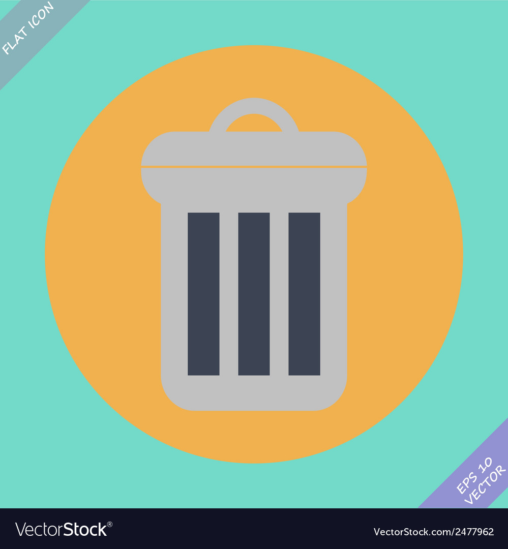 Trash can icon - vector | Price: 1 Credit (USD $1)
