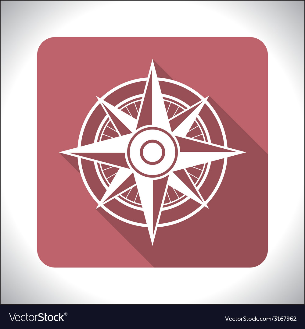 Wind rose icon vector | Price: 1 Credit (USD $1)